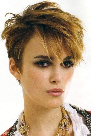 Keira Knightley with funky Hairstyle