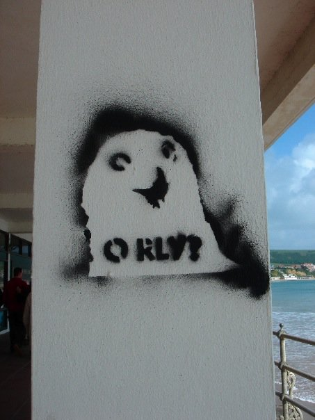 Some fun graffiti I found while in Swanage, England.