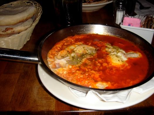 "The NYC meal I recreated. Jon's calling it ""egg goulash."""
