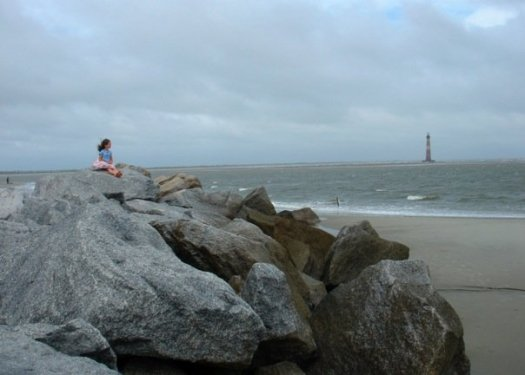 I took this photo out at the beach last October.  The cute little girl was a European tourist.