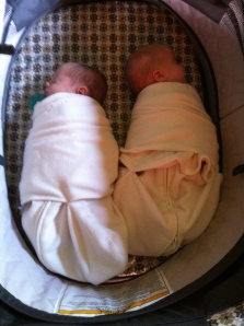 Swaddled and ASLEEP in their Halo Sleep Sack Swaddles.