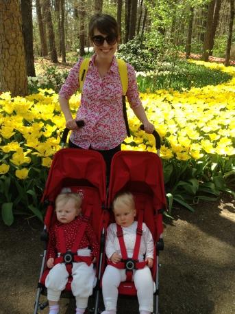 Enjoying the botanical gardens in the Twin Triumph.
