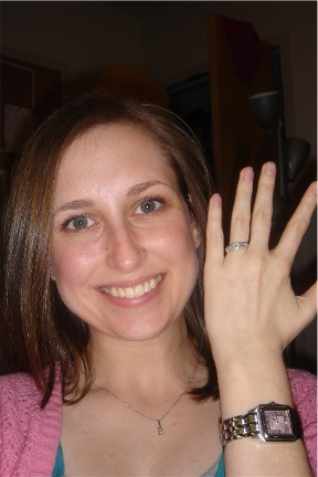 First photo with my ring after we got engaged in 2006.