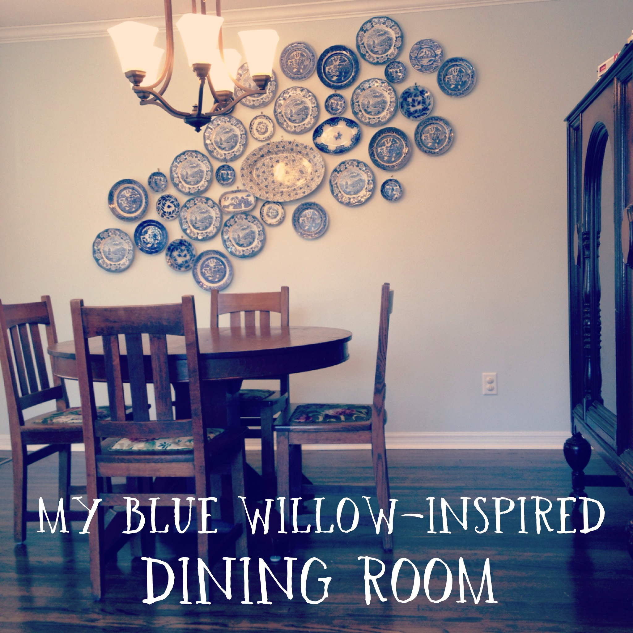 Finally Finished My Blue Willow Inspired Dining Room