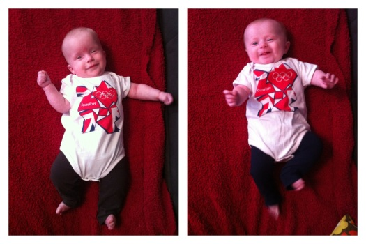 My girls rocking their 2012 London Games onesies nearly two years ago.