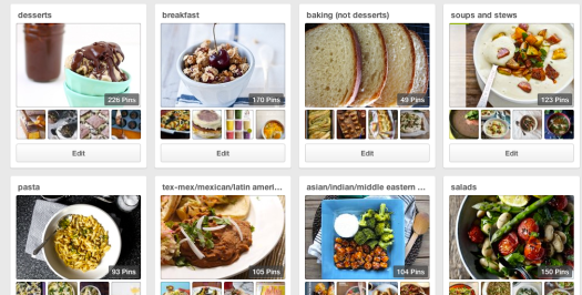 pinterest pin boards for recipe organization