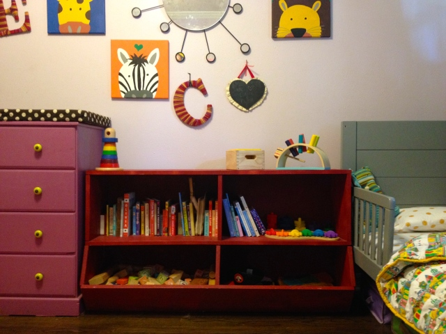All their books and toys are easy to access.
