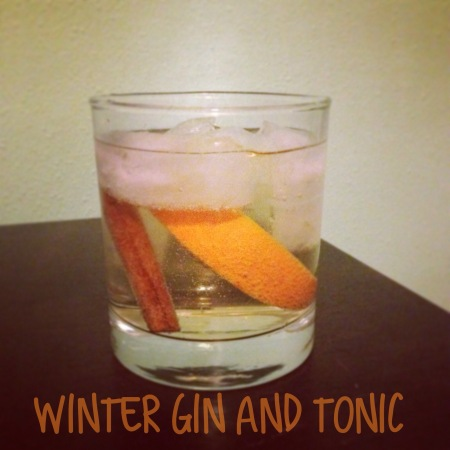 winter gin and tonic