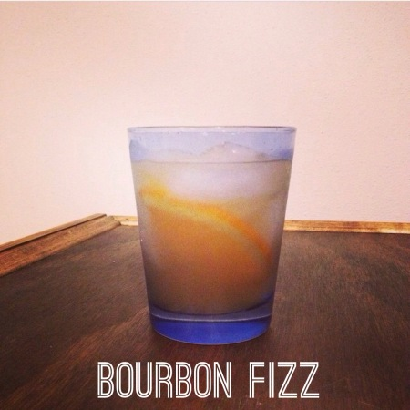 Bourbon Fizz Cocktail