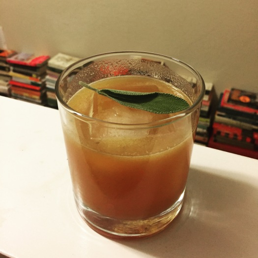 Best drink I made this week was this pumpkin, sage, whiskey concoction. here's the recipe if you want it.