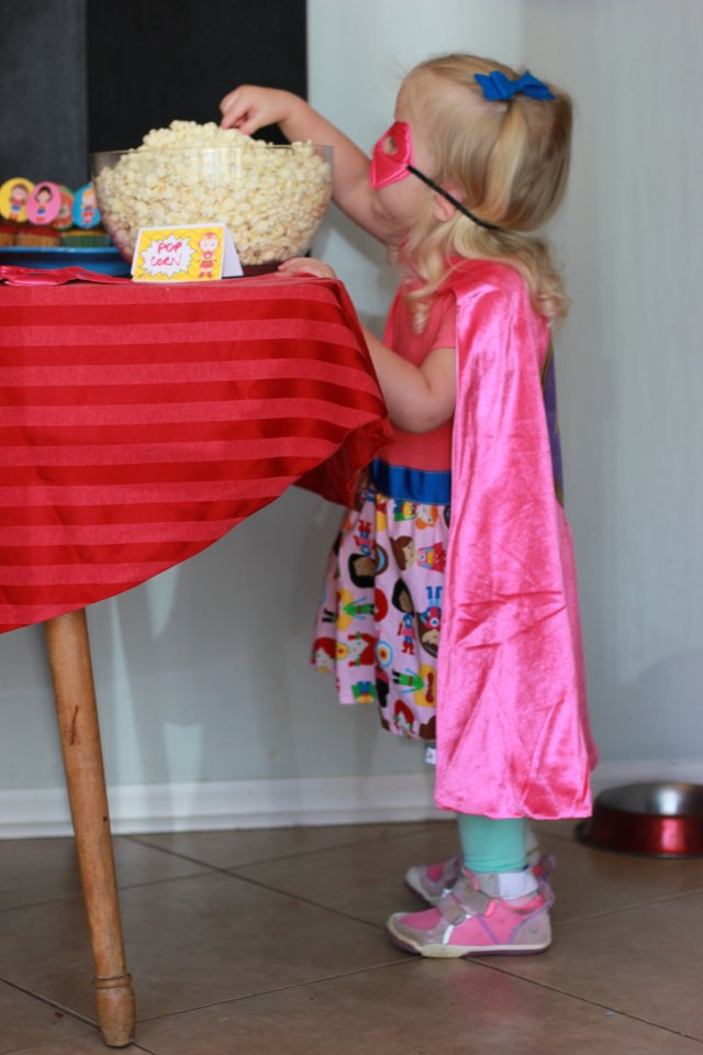 Girls Superhero Fourth Birthday Party POPcorn