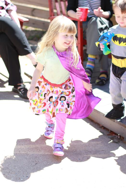 Girls Superhero Fourth Birthday Party